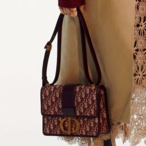 Dior Burgundy Oblique Flap Bag 2 - Pre-Fall 2019