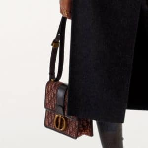 Dior Burgundy Oblique Flap Bag - Pre-Fall 2019