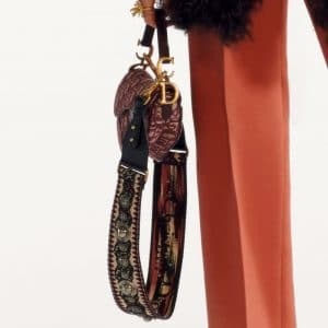Dior Burgundy Oblique Saddle Bag 2 - Pre-Fall 2019
