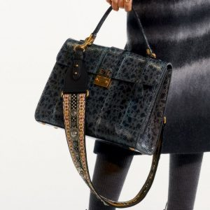 Dior Gray Snakeskin Top Handle Bag - Pre-Fall 2019