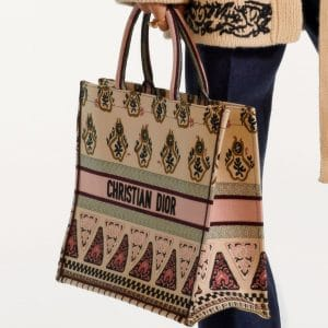 Dior Multicolor Embroidered Book Tote Bag - Pre-Fall 2019