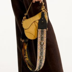 Dior Yellow Python Saddle Bag 2 - Pre-Fall 2019