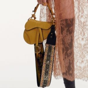 Dior Yellow Python Saddle Bag - Pre-Fall 2019