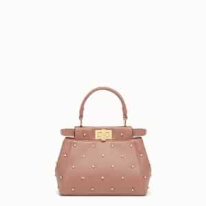 Fendi Antique Rose Star Embellished Peekaboo XS Bag
