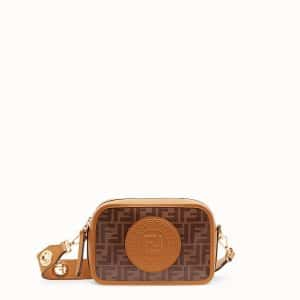 Fendi Brown Canvas FF Pattern Camera Case Bag