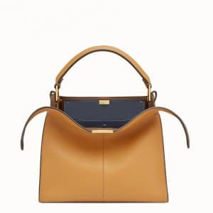 Fendi Brown Peekaboo X-Lite Regular Bag