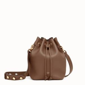 Fendi Brown Small Mon Tresor Bucket Bag