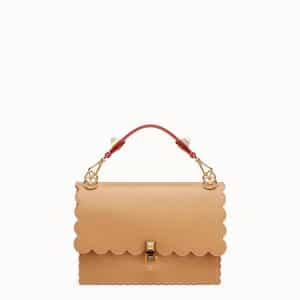 Fendi Light Brown Scalloped Kan I Bag