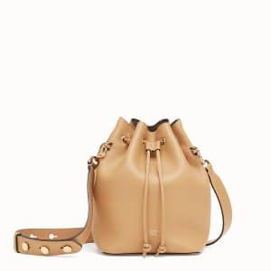 Fendi Light Brown Small Mon Tresor Bucket Bag