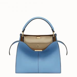 Fendi Pale Blue Peekaboo X-Lite Regular Bag
