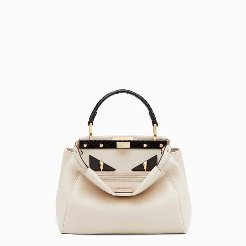 fb1fafcc9ca4 Fendi White Leather Elaphe Bag Bugs Peekaboo Mini Bag · Fendi Red Suede  Peekaboo XS Bag