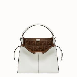 Fendi White Peekaboo X-Lite Regular Bag.jpeg