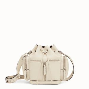 Fendi White Small Mon Tresor Bucket with Pockets Bag