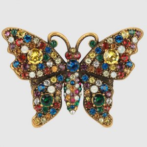 Gucci Crystal Studded Butterfly Ring 1