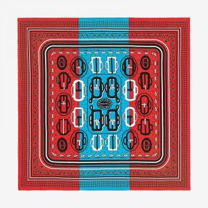 Hermes Bouclerie Moderne Silk Bandana 55