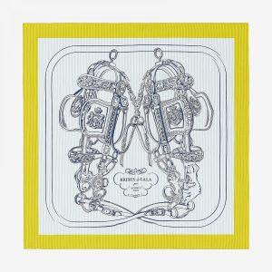 Hermes Brides De Gala Silk Twill Scarf 90