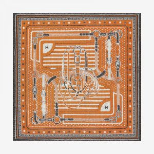 Hermes Coaching Silk Bandana 55