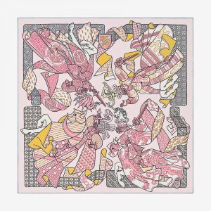 Hermes Duels Oniriques Twill Scarf 90