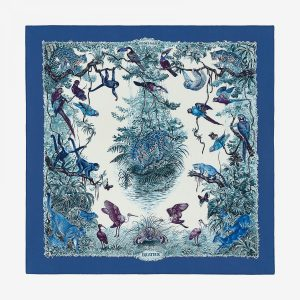 Hermes Equateur Twill Scarf 90