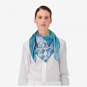 Hermes Limited Edition The Battery New York Scarf 90 2