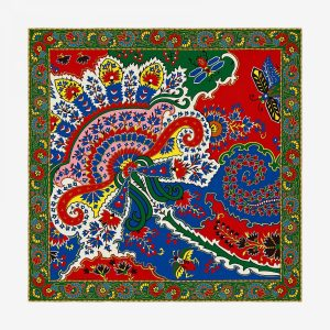 Hermes Paisley From Paisley Cashmere and Silk Shawl GM