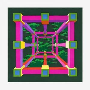 Hermes Perspective Twill Scarf 90
