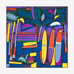 Hermes Sea, Surf and Fun Silk Twill Giant Scarf 140