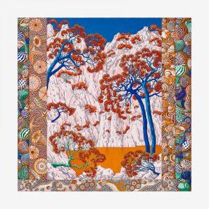 Hermes Sieste Au Paradis Silk Twill Giant Scarf 140