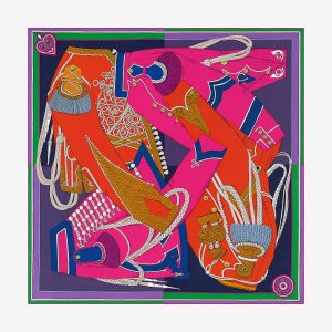 Hermes Zouaves Et Dragons Silk Twill Scarf 90