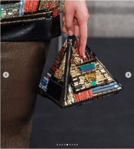 Chanel Multicolor Embroidered Pyramid Clutch Bag - Pre-Falll 2019