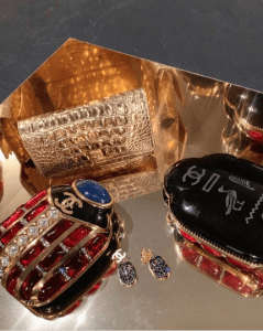 Chanel Scarab Minaudiere and Gold Clutch Bags - Pre-Fall 2019