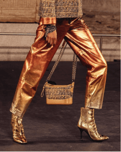 Chanel Gold Tweed Gabrielle Bag - Pre-Fall 2019