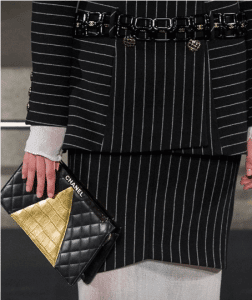 Chanel Black/Gold Quilted Clutch Bag - Pre-Fall 2019