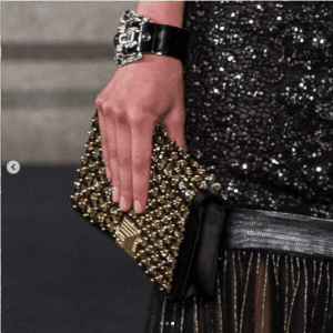 Chanel Black/Gold Beaded Clutch Bag - Pre-Fall 2019