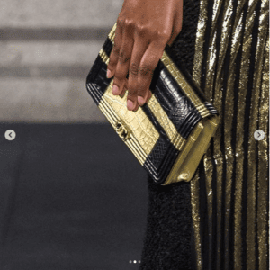 Chanel Black/Gold Clutch Bag - Pre-Fall 2019