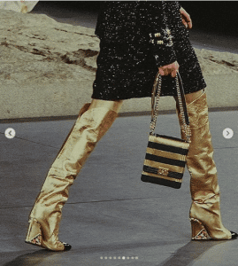 Chanel Black/Gold Boy North/West Bag - Pre-Fall 2019