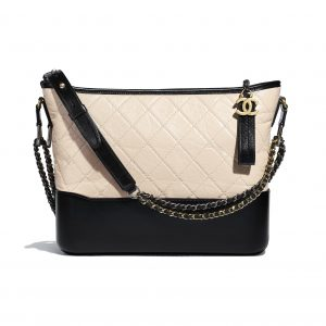 Chanel Beige:Black Gabrielle Hobo Bag