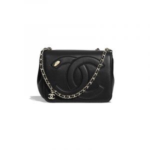 Chanel Black Lambskin CC Flap Bag