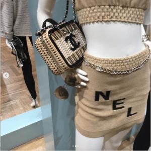 Chanel Black/Natural Woven CC Filigree Bag 3