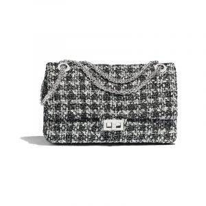 Chanel Black:White Tweed 2.55 Reissue Size 226 Bag