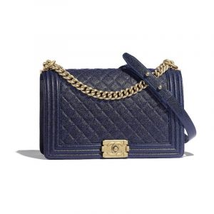 Chanel Blue Boy Chanel New Medium Flap Bag
