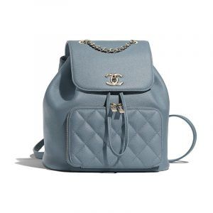 Chanel Blue Business Affinity Backpack Bag