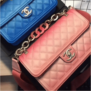 Chanel Blue and Coral Sunset By The Sea Flap Bags