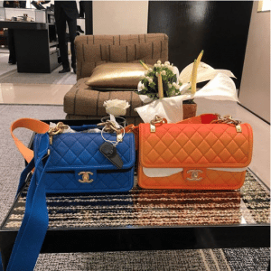 Chanel Blue and Orange Sunset By The Sea Flap Bags