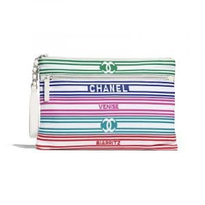 Chanel Blue:White Venise Biarritz Clutch Bag