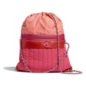 Chanel Coral Nylon Backpack Bag