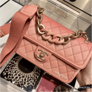 Chanel Coral Sunset By The Sea Flap Bag