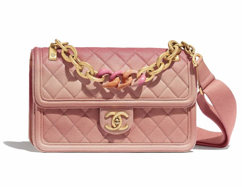 Chanel Coral Sunset On The Sea Flap Bag