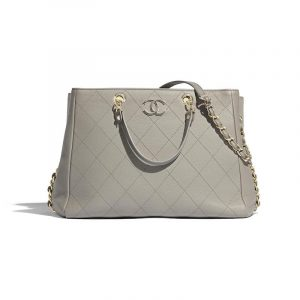 Chanel Gray Bullskin Shopping Bag