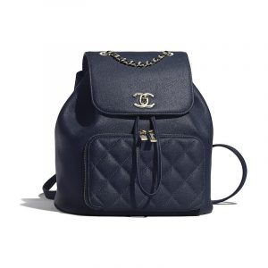 Chanel Navy Blue Business Affinity Backpack Bag